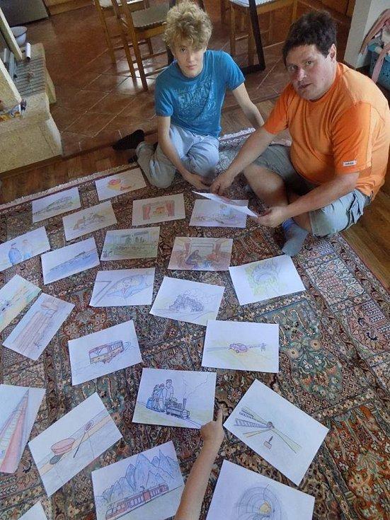 Spisovatel Pavel Petr (vlevo) a ilustrátor Janis Mahbouli mají společně 'na svědomí' Pohádky z nádraží a Pohádky z kolejí.