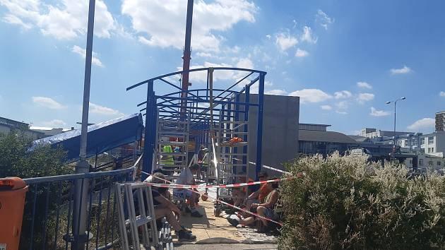 Výstavba výtahu na železniční zastávce Mladá Boleslav – město.
