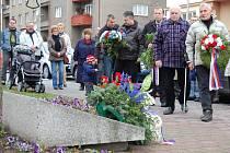 Uctění památky 17. listopadu v Mladé Boleslavi.