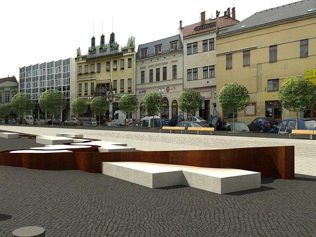 Vizualizace Staroměstského náměstí a jeho budoucí podobě.