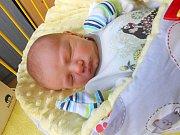 Tobiáš Bekr se narodil 18. listopadu, vážil 3,23 kg a měřil 50 cm. S maminkou Marií a tatínkem Janem bude bydlet v Mladé Boleslavi.