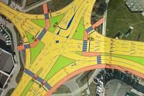 Takhle by měla vypadat v budoucnu křižovatka mezi Mladou Boleslaví a Kosmonosy