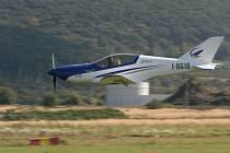 Představení letounu Blackshape Prime na mladoboleslavském letišti.
