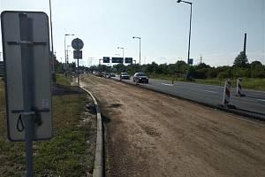 Uzavřená silnice u Olympie