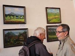 Vernisáž společné výstavy boleslavských výtvarníků.