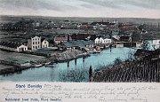 Pohlednice továrny Carborundum – rok 1904