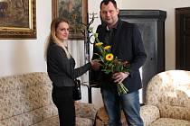 Cukrářku Veroniku Chodúrovou přijal náměstek primátora Daniel Marek