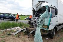 Páteční vážná nehoda u Čisté.