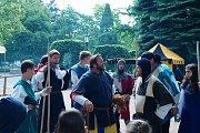 Na jarmarku byli k vidění muzikanti Bohemia Bards,  šermíři i tanečníci.