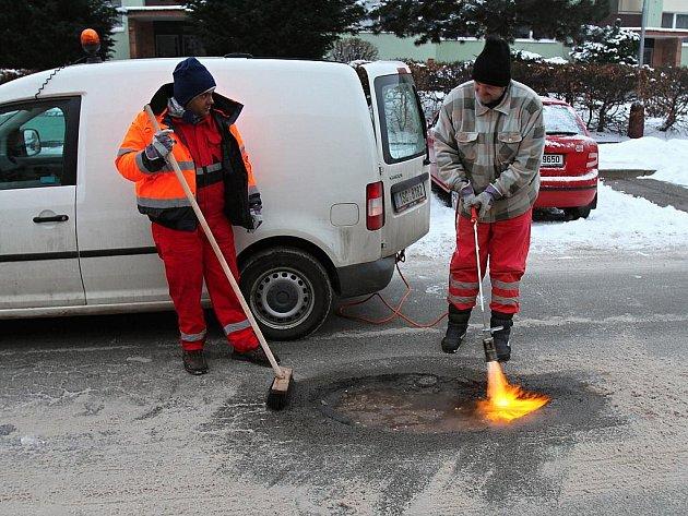 Opravy silnic v Mladé Boleslavi