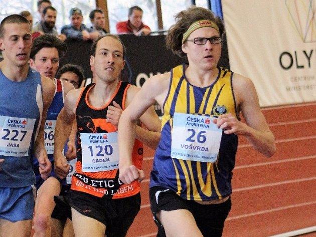 Páté místo pro mladoboleslavské barvy vybojoval na trati 3000 metrů  Sebastián Vošvrda (na snímku) časem 8:37,34.