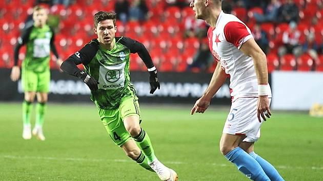 Slavia porazila doma Mladou Boleslav těsně 3:2.