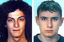 Podezřelí z krádeže Škodovek 21letý Jiří Krumpolec (vlevo) a 23letý Jaroslav Strach.