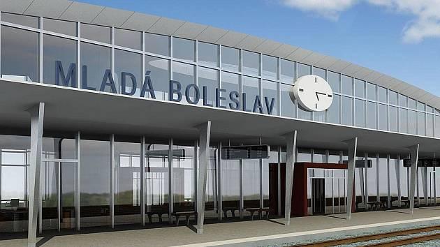 Podoba budoucího nového hlavního nádraží v Mladé Boleslavi.