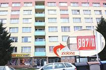 Panelový dům v Havlíčkově ulici v Mladé Boleslavi.