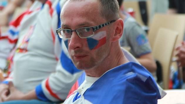 Boleslaváci fandili českému týmu také ve Vzdělávacím centru Na Karmeli