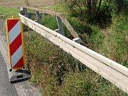 Plánovaná oprava mostku u Bratronic, směrem na Vlkavu.