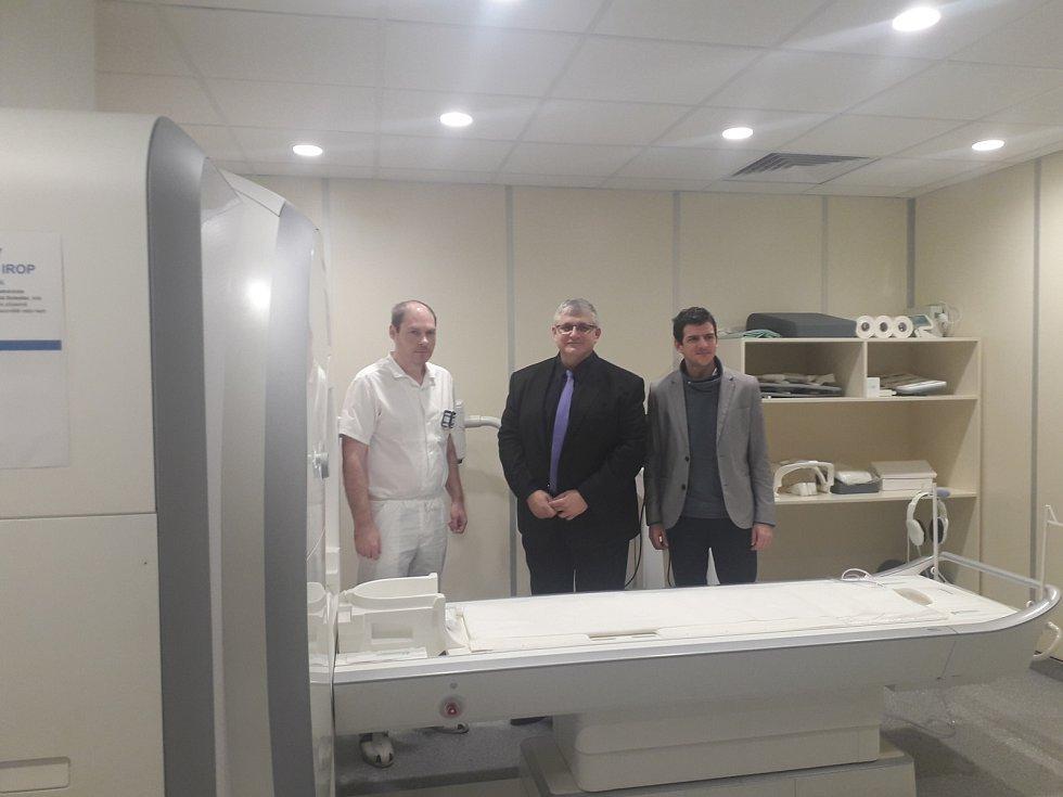 Nová magnetická rezonance v Klaudiánově nemocnici v Mladé Boleslavi.