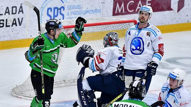 Zápas 42. kola hokejové extraligy mezi Mladou Boleslaví a Plzní.