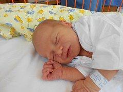 JAKUB Hašl se narodil 21. května, vážil 3,9 kilogramů a měřil 52 centimetrů. S maminkou Alenou a tatínkem Pavlem bude bydlet v Bakově nad Jizerou.
