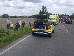 Nehoda mezi Bakovem nad Jizerou a Chudoplesy.