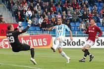 Jan Kysela se ocitl v první šanci zápasu. Jak by asi utkání vypadalo, kdyby skóroval?