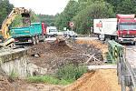 Totální výměna mostku mezi obcí Sukorady a Martinovickým lesem na Mladoboleslavsku na silnici I/16.