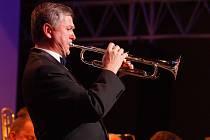 Přemysl Vlasta, kapelník, zakladatel a trumpetista Big bandu Relax.