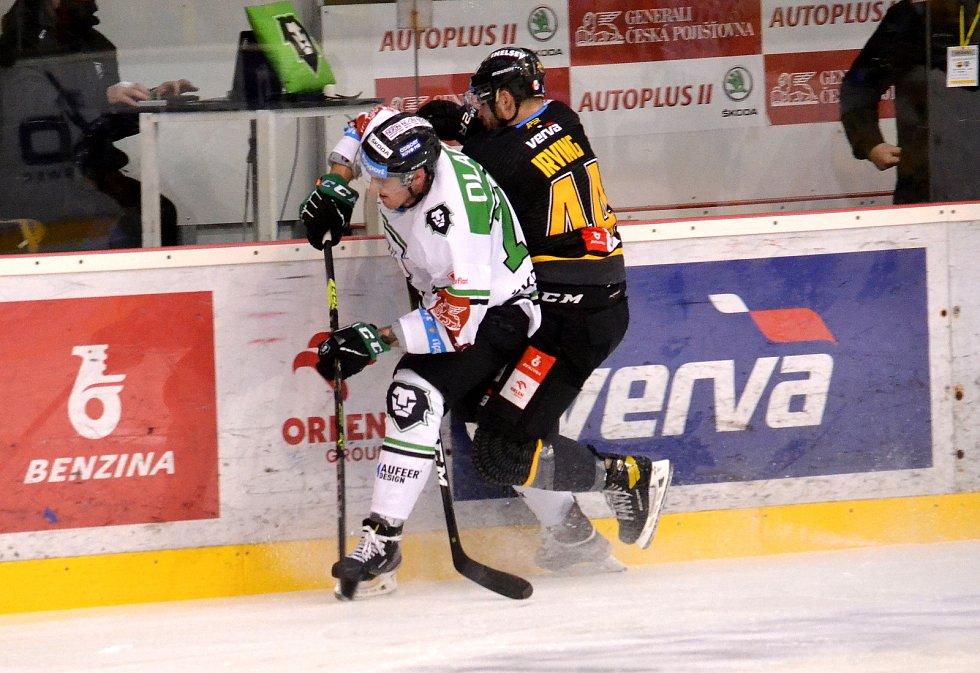 Boleslavští si prohráli zápas 49. kola extraligy na ledě Litvínova ve druhé třetině.
