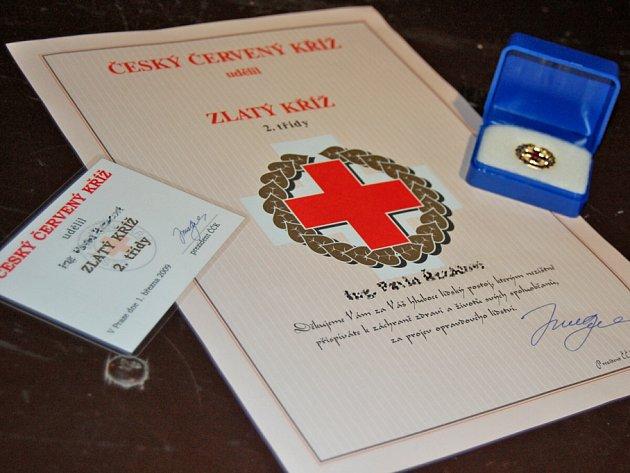 Oceňování dárců krve v Mladé Boleslavi