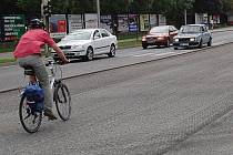 Vyfrézovaná vozovka na Jičínské ulici v Mladé Boleslavi.