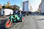 Výstava traktorů značky Svoboda v rámci Svatováclavské jízdy v Mladé Boleslavi.