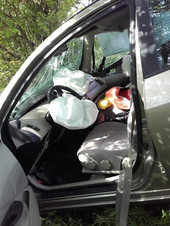 Nehoda v Žerčicích.