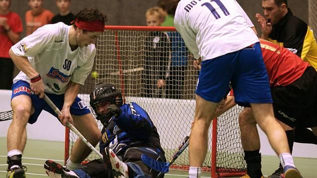 Florbalisté Sokola byli v prvním utkání čtvrtfinále play-off úspěšní.