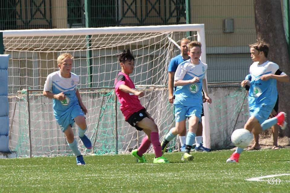 Mladší žáci FK Mladá Boleslav na turnaji v Portugalsku.