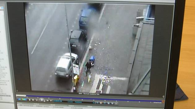 Řádění vandala zaznamenaly kamery městské policie