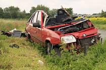 Vážná nehoda na silnici spojující Brodce a Luštěnice