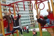 Nově otevřené dětské hřiště na Slovance v Mladé Boleslavi.