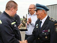 Hasiči z Katusic slavili 130 let, jejich kolega Václav Cinkl 60 let u sboru.