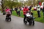Do závodů kočárků v lesoparku Štěpánka se zapojilo 27 kočárků