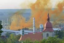 Dobrovice se díky výbuchu v lihovaru zahalila do oranžového plamene