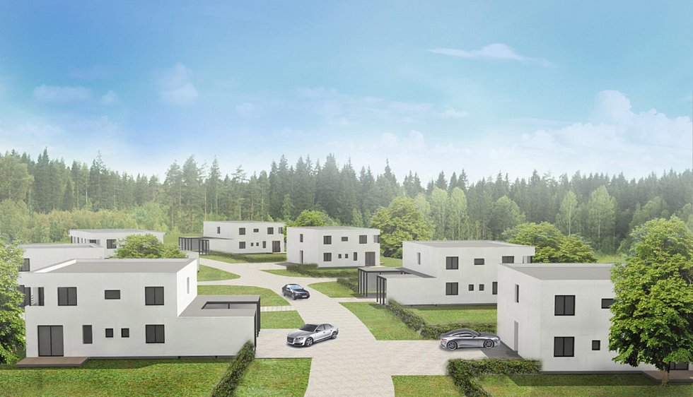 Někdejší vojenský areál Čeperka-Unhošť, dnes se zde staví rezidenční bydlení a bytové domy. Nastěhovat by se sem mělo v konečné podobě na 200 obyvatel.