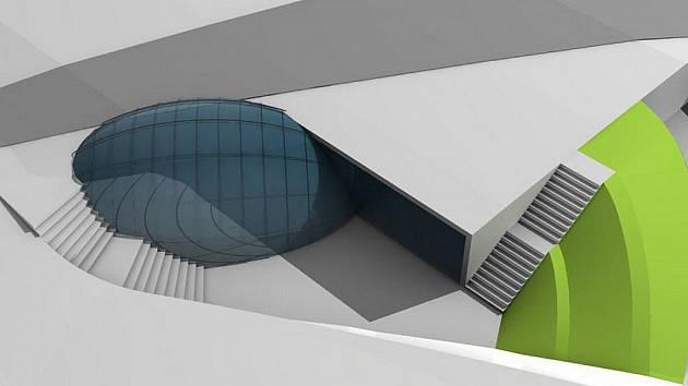 Tak bude vypadat parkovací dům na Staroměstském náměstí v Mladé Boleslavi při pohledu shora v představách architekta.