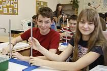 Nově vybavená učebna ve škole TGM v Boleslavi
