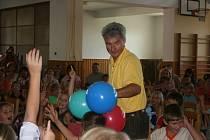 Nejen dobrovické děti si užily s Michalem Nesvadbou