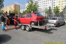 Odtah vraků v Mladé Boleslavi