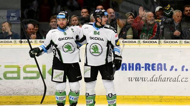 Hokejisté Mladé Boleslavi porazili ve 13. kole extraligy Spartu 4:3 po prodloužení.