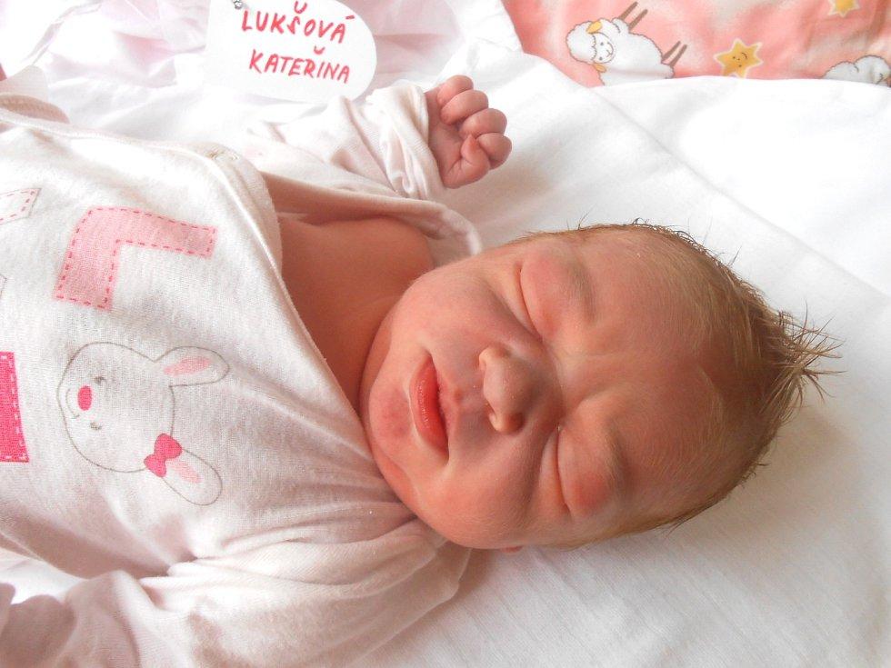KAČENKA Lukšová přišla na svět 12. července s mírami 3,99 kg a 50 cm. S maminkou Magdalénou a tatínkem Janem bude bydlet v Mladé Boleslavi, kde už se na ni těší bráška Honzík.