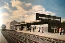 Vizualizace nové výpravní budovy na boleslavském hlavním nádraží.