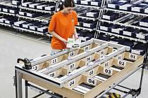 Sekvenční palety s 'Pick-by-Frame':  Tato technika pomáhá pracovníkům při nakládce vychystávacích vozíků.